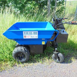 Elektrisk minidumper på hjul
